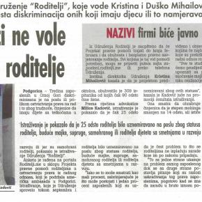 Dnevni list Vijesti, 8. novembar 2012.